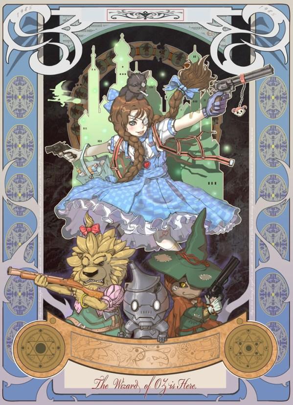 Wizard of Oz Illustration by Park Insu - sci-fi, underwater, alternative, steampunk