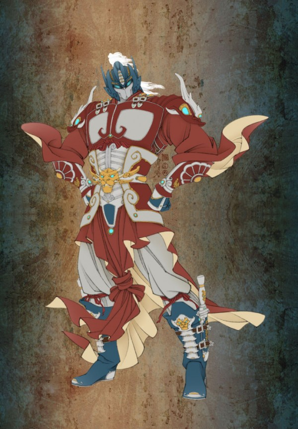 Optimus Prime as Ancient Chinese Warrior by Zhangwang - Transformers