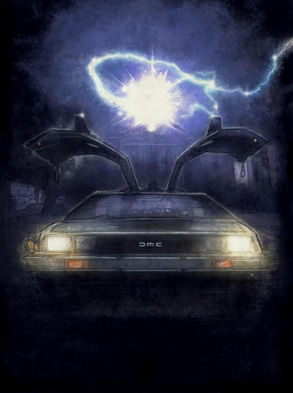 The Time Machine by Paul Shipper - Back to the Future DeLorean