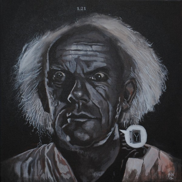 Doc Brown by Blake Wheeler - Christopher Lloyd, Back to the Future Art