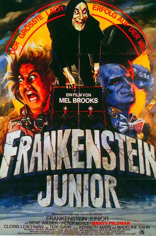 Frankenstein Junior - German Young Frankenstein Poster - Mel Brooks, Gene Wilder