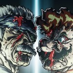 Mario vs Old Snake by Sebastian von Buchwald - Metal Gear Solid