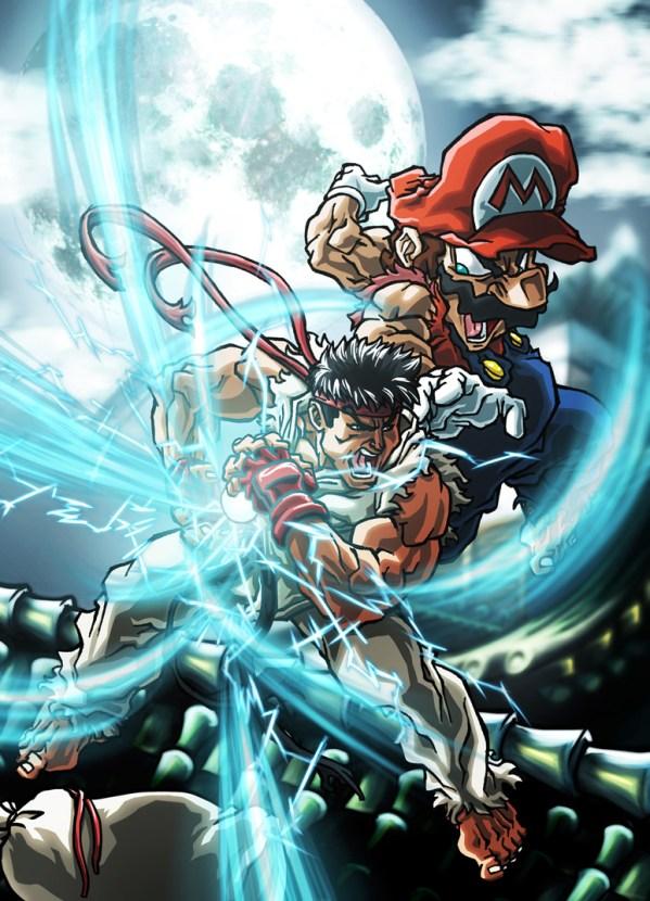 Mario vs Ryu by Sebastian von Buchwald - Street Fighter 2
