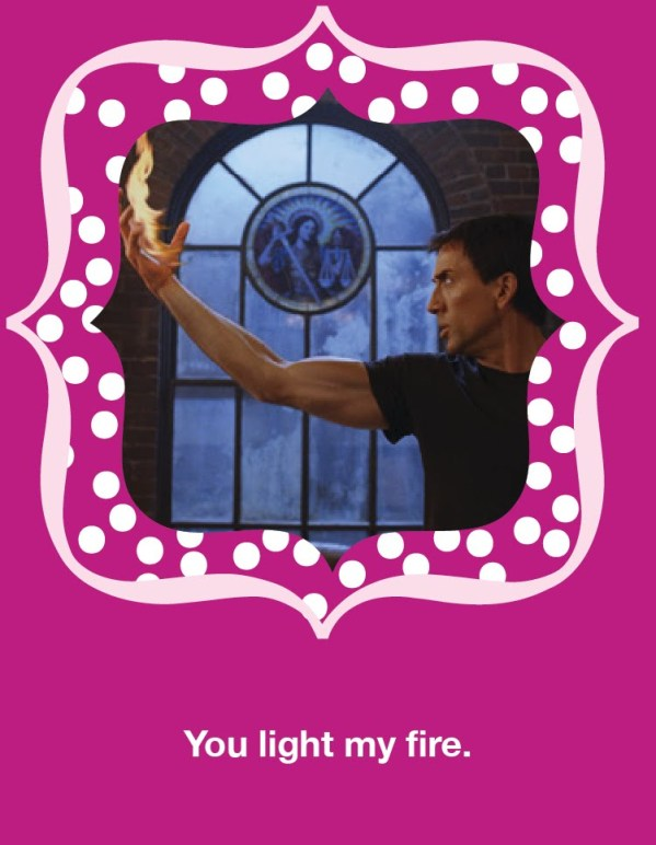 You light my fire - Nicolas Cage Valentine's Day Card
