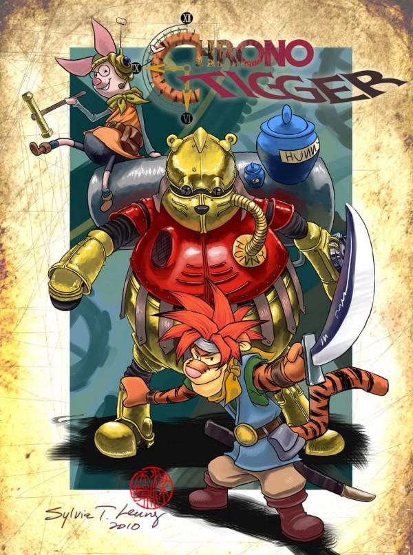 Chrono Tigger - Winnie the Pooh x Chrono Trigger Mashup