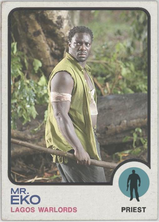 Mr. Eko - LOST Baseball Card - Adewale Akinnuoye-Agbaje
