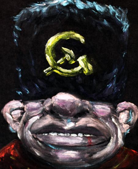 Nikolai Volkoff Velvet Painting by Eliot Mechanism