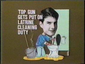 Top Gun Gets Put on Latrine Cleaning Duty