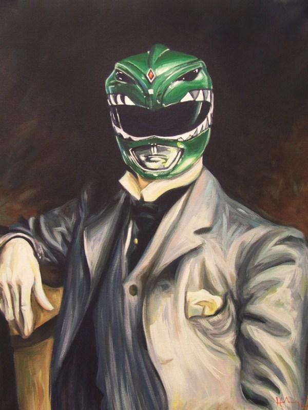 Green Ranger Portrait by Hillary White -- Mighty Morphin Power Rangers