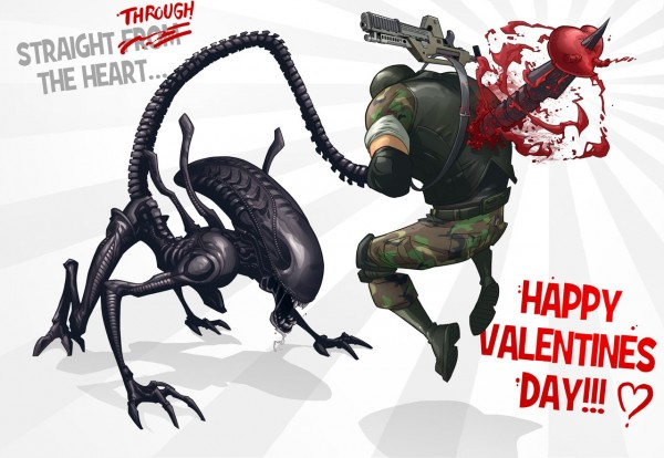 Aliens: Colonial Marines Valentine's Day Card - xenomorph love