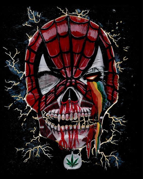 Spider-Man Skull by El Dam - Mary Jane