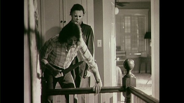 halloween behind the scenes - John Carpenter and Nick Castle as Michael Myers