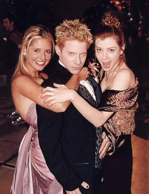 Buffy the Vampire Slayer Cast - Sarah Michelle Gellar, Seth Green, Alyson Hannigan