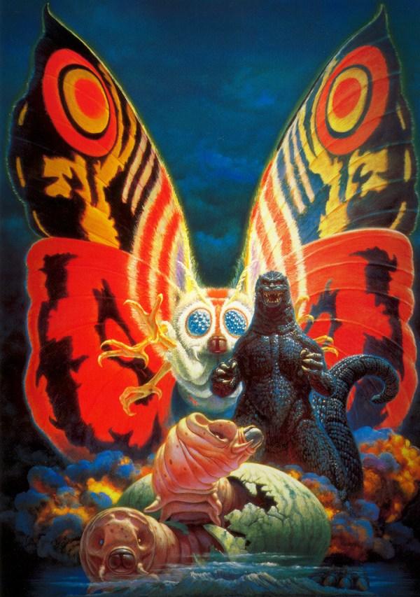 Godzilla vs Mothra (1992) - Noriyoshi Ohrai Painting