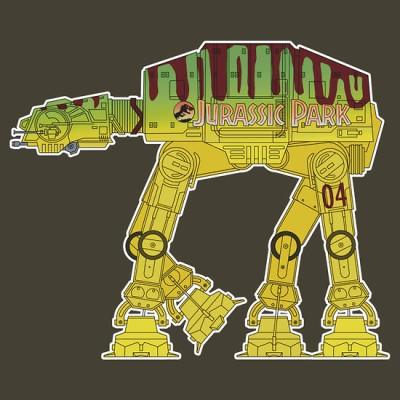 Jurassic Park Jeep AT-AT - Star Wars