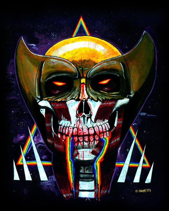 Wolverine Skull by El Dam