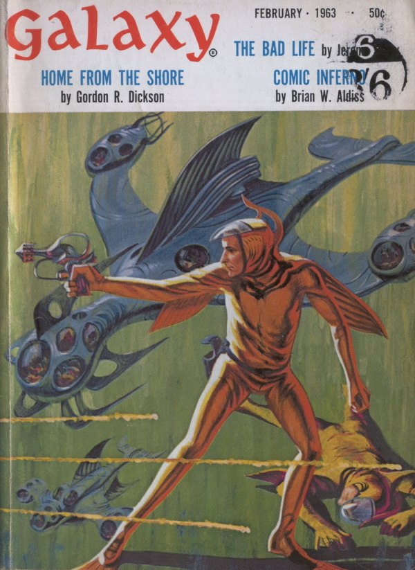 GALAXY science fiction magazine february 1963 - art by jack gaughan