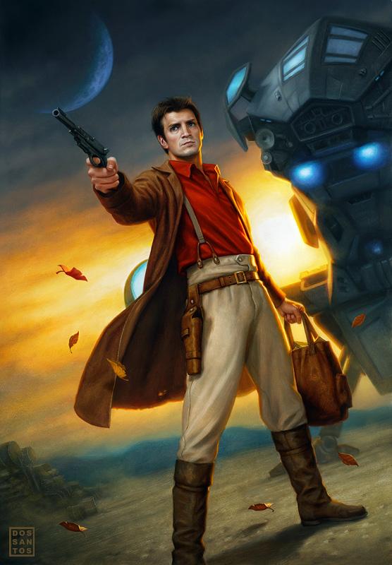 Captain Malcolm Reynolds by Dan dos Santos - Firefly Art, Nathan Fillion, Joss Whedon