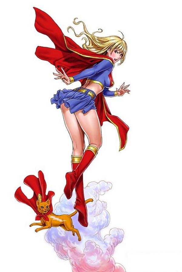 Bishoujo Style Supergirl by Shunya Yamashita - DC Comics, Anime, Manga