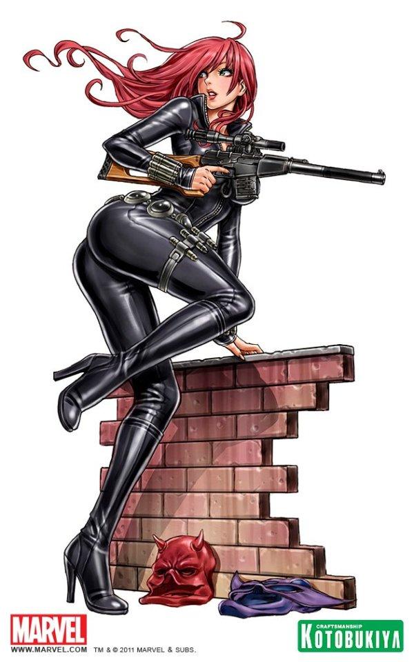 Bishoujo Style Black Widow by Shunya Yamashita - Avengers, Marvel Comics, Anime, manga