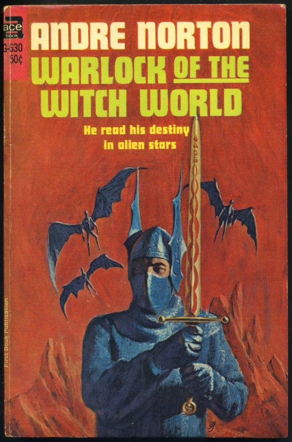 warlock of the witch world - andre norton - cover by jack gaughan