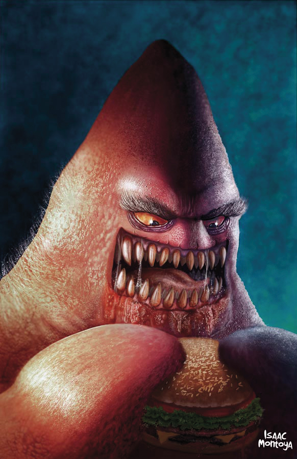Creepy Realistic Patrick Star Spongebob Squarepants Art
