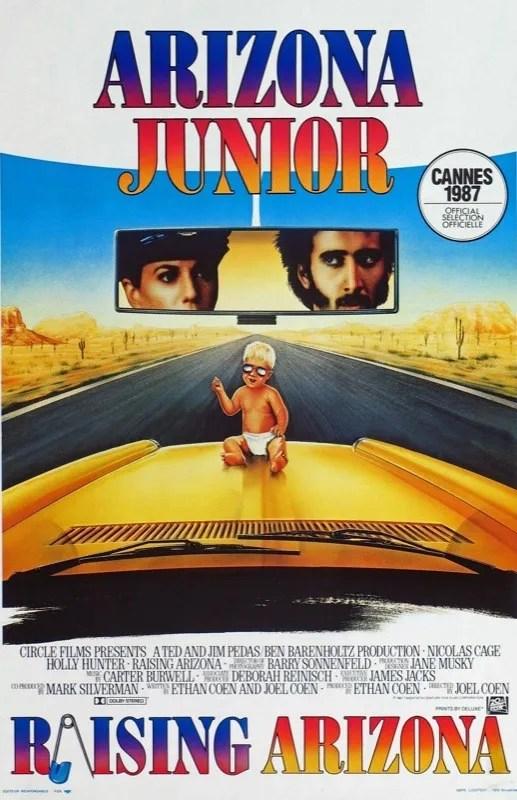 Raising Arizona Belgian Movie Poster 1987 - Arizona Junior