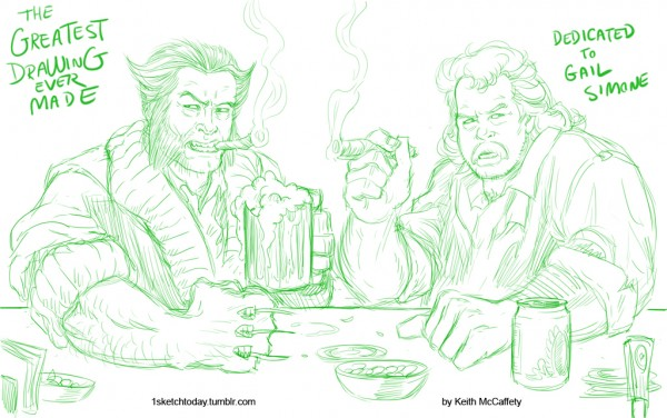Zap Rowsdower and Wolverine Team-Up by Keith MCCaffety