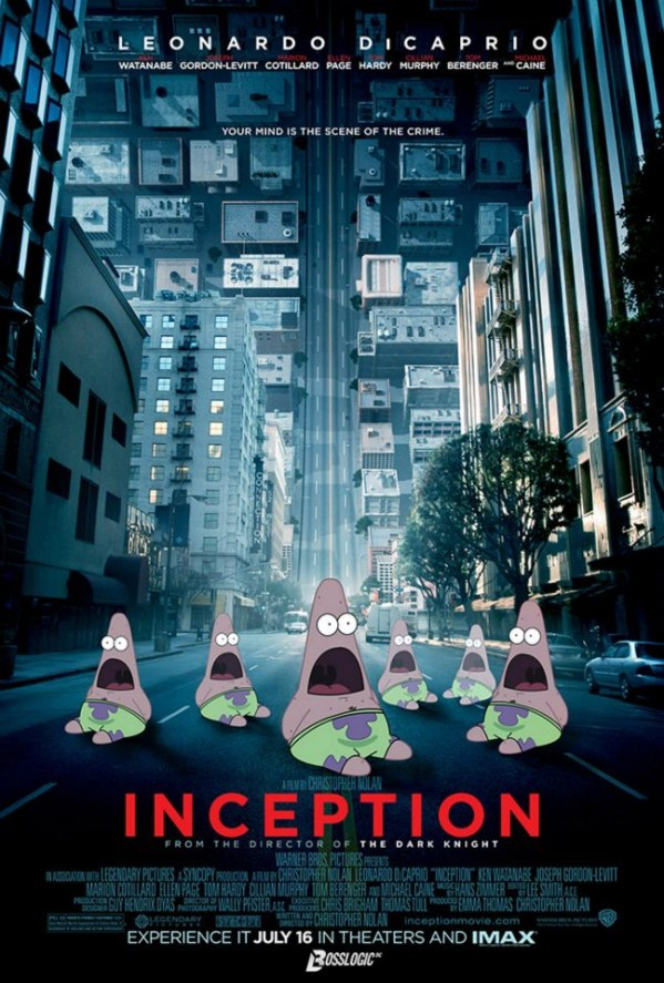Surprised Patrick x Inception Poster - SpongeBob SquarePants, Patrick Star