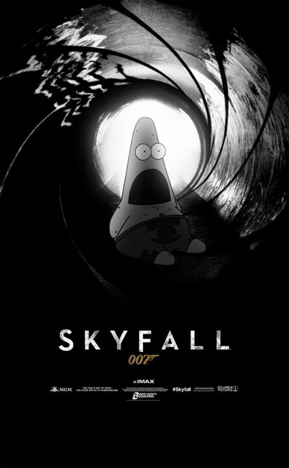Surprised Patrick x Skyfall Poster - SpongeBob SquarePants, Patrick Star, James Bond