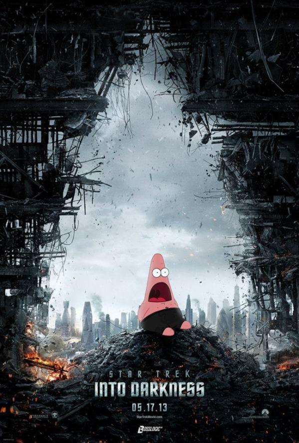 Surprised Patrick x Star Trek Into Darkness Poster - SpongeBob SquarePants, Patrick Star