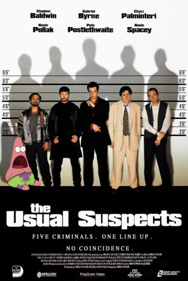 Surprised Patrick x Usual Suspects Poster - SpongeBob SquarePants, Patrick Star