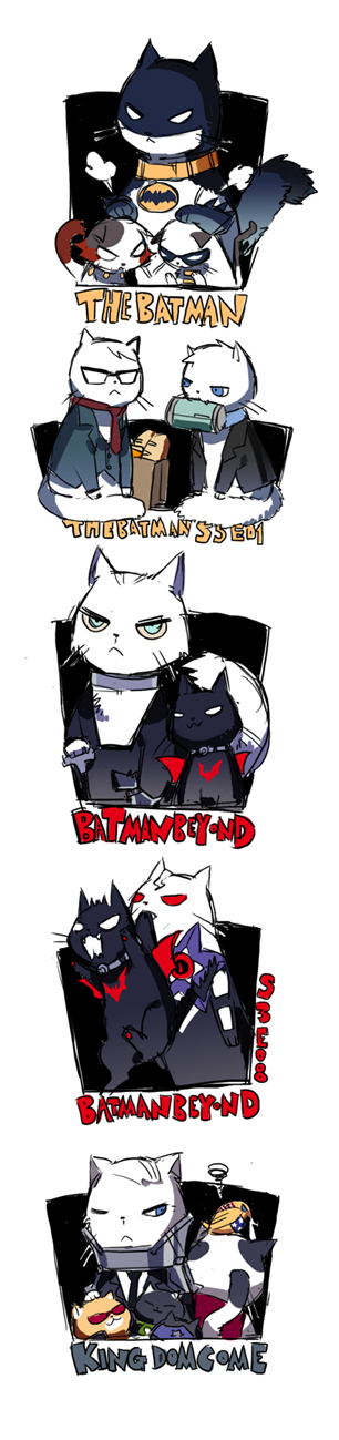 Batman Characters as Cats by STAR Kageboushi - DC Comics