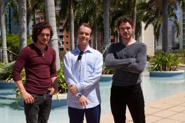 Game of Thrones Cast: Kit Harington (Jon Snow), Alfie Allen (Theon Greyjoy), Richard Madden (Robb Stark)