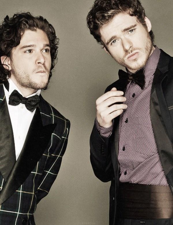 Game of Thrones Cast: Kit Harington (Jon Snow), Richard Madden (Robb Stark)