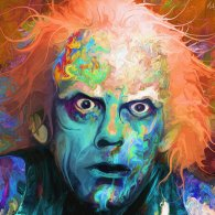 Psychedelic Doc Brown Art by Nicky Barkla - Back to the Future - Christopher Lloyd