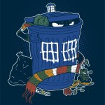 Oscar the Grouch as Doctor Who in his Tardis Can