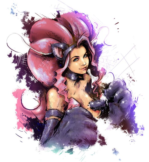 Felicia Portrait by Vincent Vernacatola - Darkstalkers Art - Gaming - Capcom