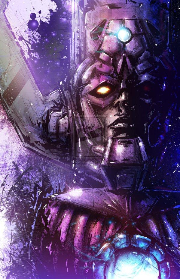 Galactus Portrait by Vincent Vernacatola - Marvel Comics Art