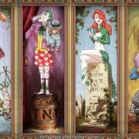 Haunted Arkham Asylum by Abraham Lopez - Batman Villains x Disney Haunted Mansion Paintings