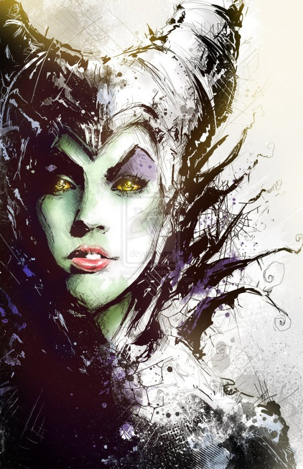 Maleficent Portrait by Vincent Vernacatola - Disney Villains Art