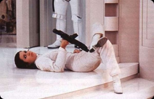 Princess Leia (Carrie Fisher) - Star Wars Empire Strikes Back Behind the Scenes