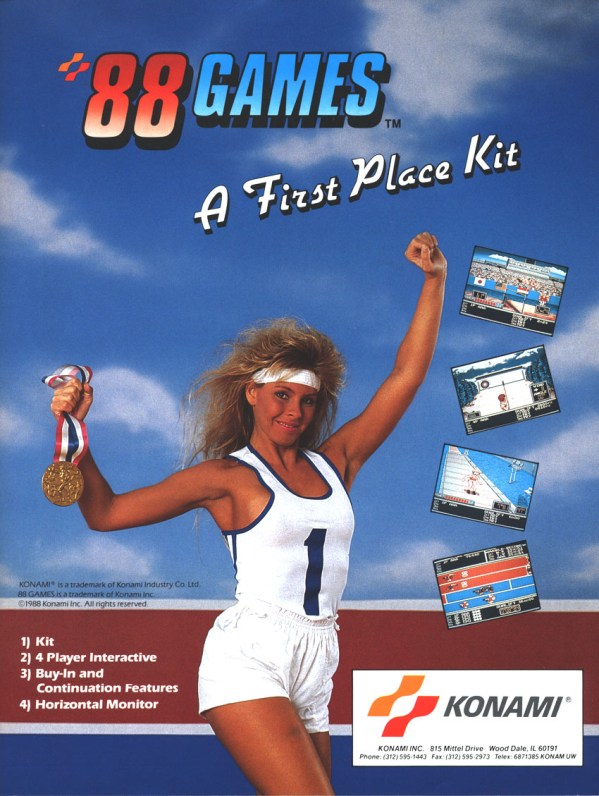 '88 Games (1988) - Konam Arcade Flyer
