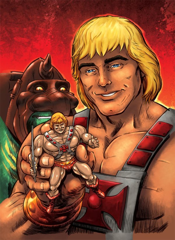 He-Man with action figure by Laemeur and oICEMANo