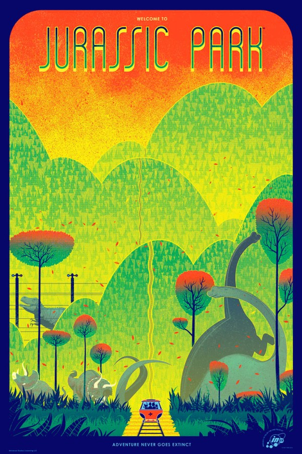 Jurassic Park Poster by Kevin Tong - Directed by Steven Spielberg