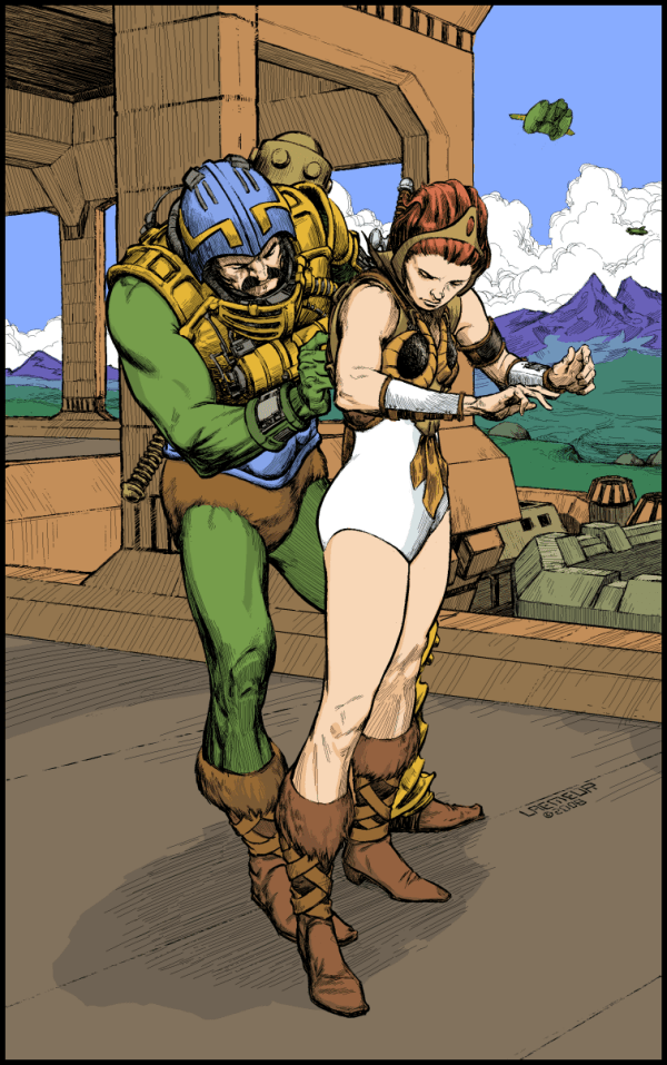 Man-At-Arms Squiring Teela by Laemeur - Masters of the Universe