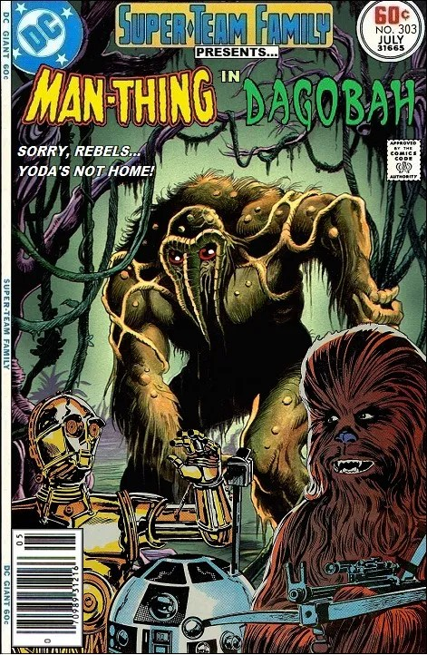 Man-Thing in Dagobah - Star Wars x Marvel Comics Crossover
