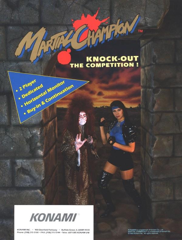 Martial Champion (1993) - Konam Arcade Flyer