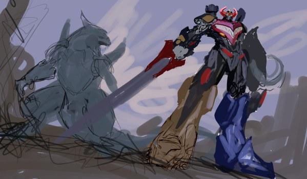 Megazord and Dragonzord by nebezial - Mighty Morphin Power Rangers Art