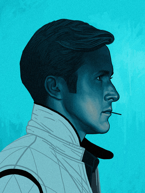 Driver (Ryan Gosling) from Drive by Mike Mitchell - Nicolas Winding Refn